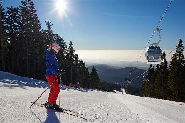 Skiareál v Janských Lázních na Černé hoře